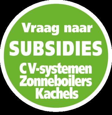 Vraag naar subsidies, CV-systemen, Zonneboilers, Kachels